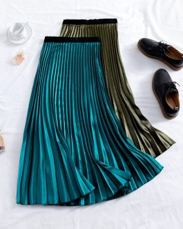 Elegant A-Line Casual Long Skirt