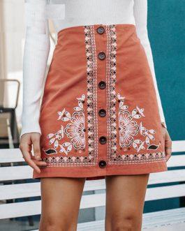 High Waist Bohemian Cotton Skirts