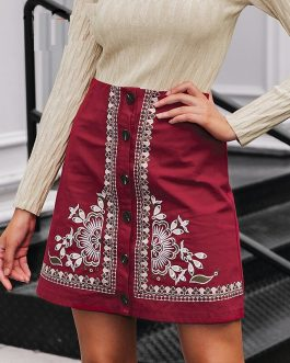 High Waist Bohemian Cotton Skirts