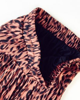 Leopard Printing Luxurious Long Skirt
