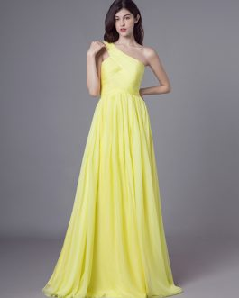 Long Chiffon Side Draping Wedding Party Prom With Detachable Ribbon Bridesmaid Dresses
