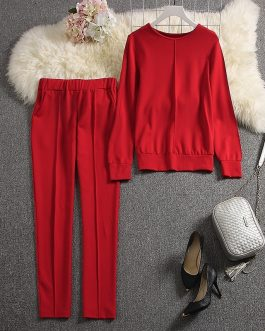 Long-sleeved Sweater Pants Tracksuits