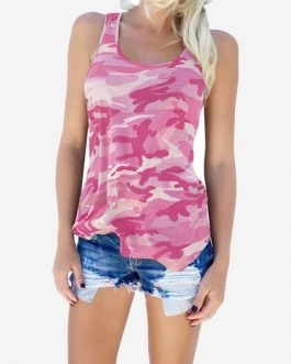 Sleeveless Casual Tees Tops