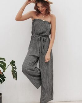 Solid leopard print overalls playsuit