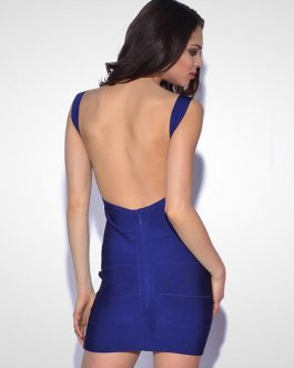 Backless Sexy HL Bandage Night Club Party Mini Dress
