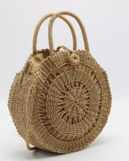 Big Circular Straw Beach Handmade Bags For Women