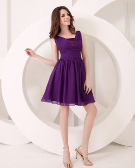 Bridesmaid Dress A-Line Chiffon Dress