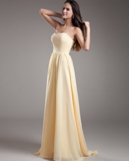 Chiffon Bridesmaid Dress with Sweetheart Neck