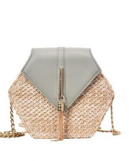Fashion Hexagon Multi Style Handmade Woven Beach Handbags