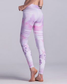 High Waist Floral Printed Yoga Pants