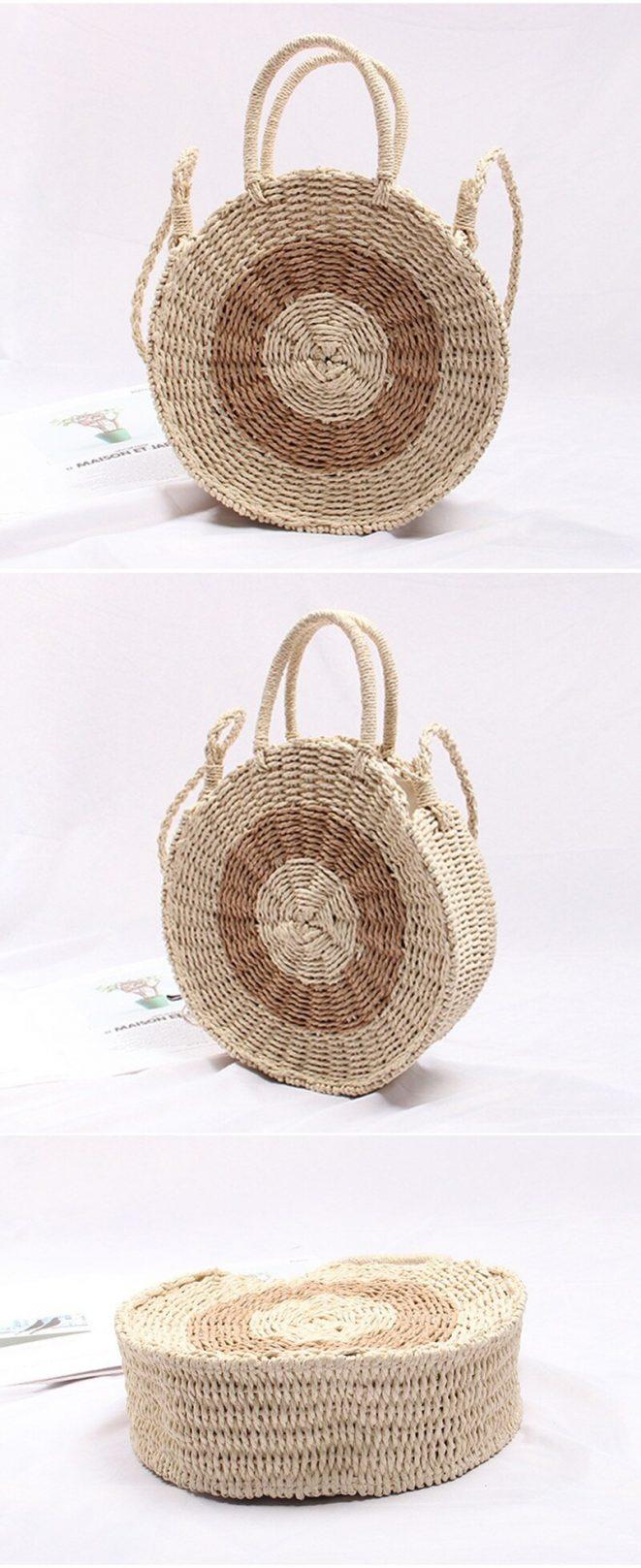 Fresh Rattan Woven Straw Rope Knitted Beach Bag 8.2 e1585418089252