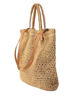 Knitted Straw Large Capacity Shoulder Beach Bag