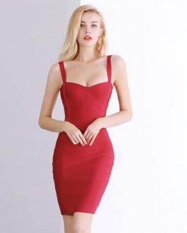 Sexy Rayon HL Elastic Bandage Bodycon Mini Dresses