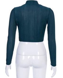 Sexy Top Long Sleeve High Collar Polyester Holiday Shirt