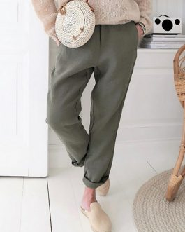 Simple Comfortable Side Pockets Pants