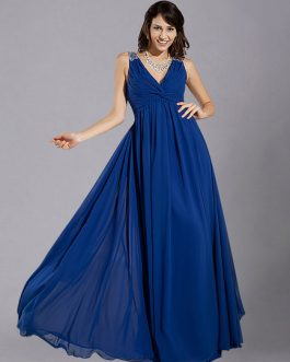 Straps Ruched Chiffon Bridesmaid Dress