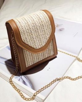 Straw Rattan Beach Cross Body Handmade Bag