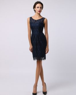 Sweetheart Knee-Length Lace Wedding Guest Bridesmaid Dress