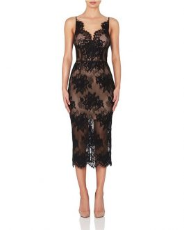 Vintage Mid Bodycon Bandage Long Lace Party Vestido