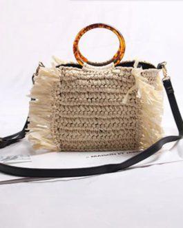Vintage Straw Handmade Beach Casual Bag