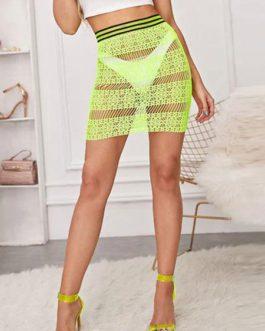 Skirt Lace Mini Sheer Women Bottoms