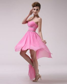 A-line Sweetheart Ruched Chiffon Bridesmaid Dress