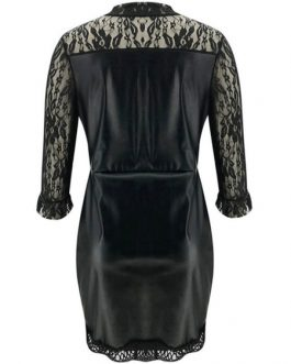 Bodycon Jewel Neck Lace Casual Half Sleeves Pencil Dress