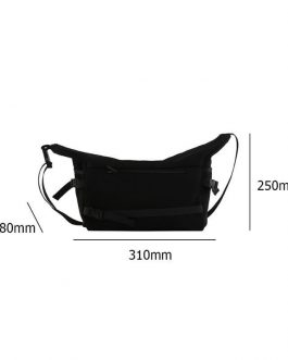 Solid Color Large Capacity Street Crossbody Messenger Bags
