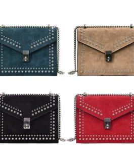 Rivet Elegant PU Leather Chain Crossbody  Shoulder Handbag