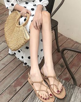 Chic Open Toe Flat Sandals