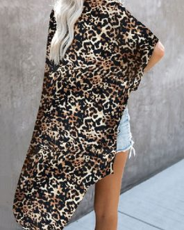 Cover Ups Animal Print Short Sleeves Polyester Sexy Swimming Suits