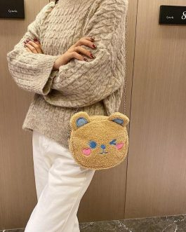 Delicate Texture Lovely Cute Bear Chain Shoulder Messenger Bag