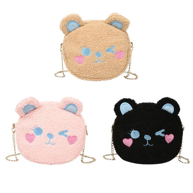 Crossbody Handbag Cute Bear Chain Shoulder Messenger Bag 3