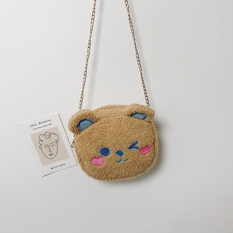 Crossbody Handbag Cute Bear Chain Shoulder Messenger Bag 4