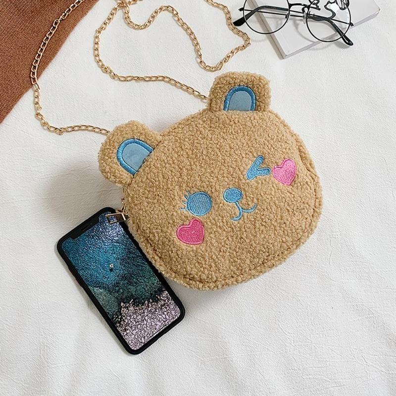 Crossbody Handbag Cute Bear Chain Shoulder Messenger Bag 5