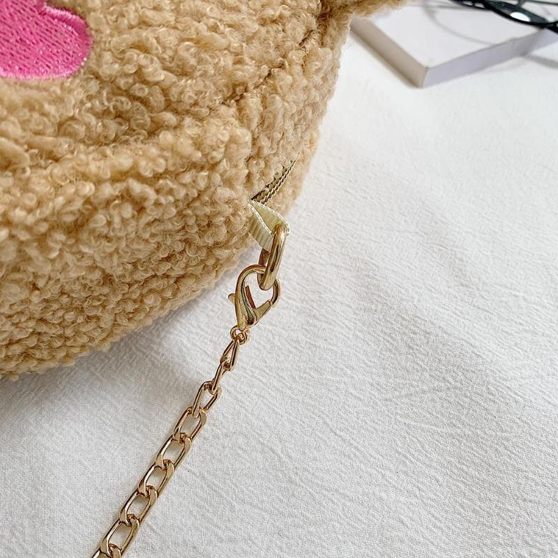 Crossbody Handbag Cute Bear Chain Shoulder Messenger Bag 6