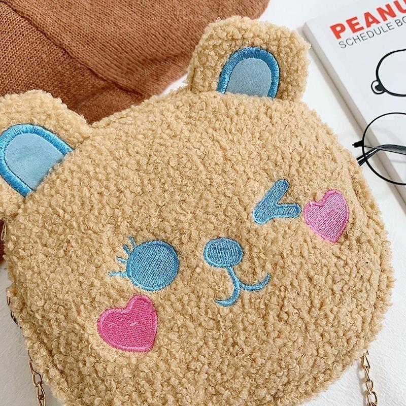 Crossbody Handbag Cute Bear Chain Shoulder Messenger Bag 7