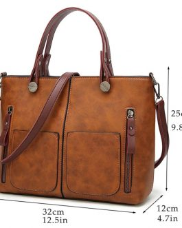 Drop Shipping Vintage Causal Totes High Quality Dames Handbags