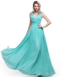 Elegant Bridesmaid Dress with Cowl Neck and Beading Chiffon Skirt