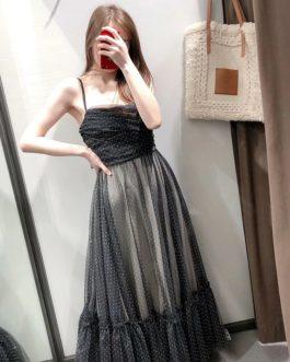 Fashion Pleated Sleeveless Long Dress
