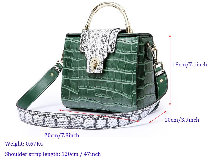 Genuine Leather Bag Ladies Crossbody Messenger Bag Crocodile 1