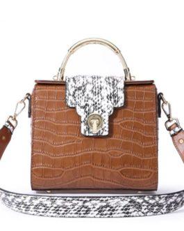 Genuine Leather Bag Ladies Crossbody Messenger Bag Crocodile