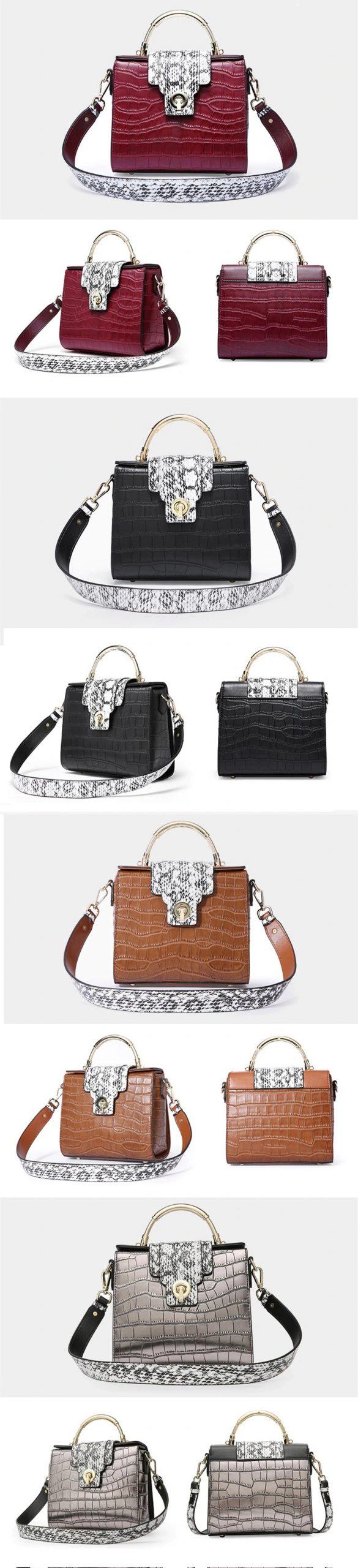 Genuine Leather Bag Ladies Crossbody Messenger Bag Crocodile3 1 scaled