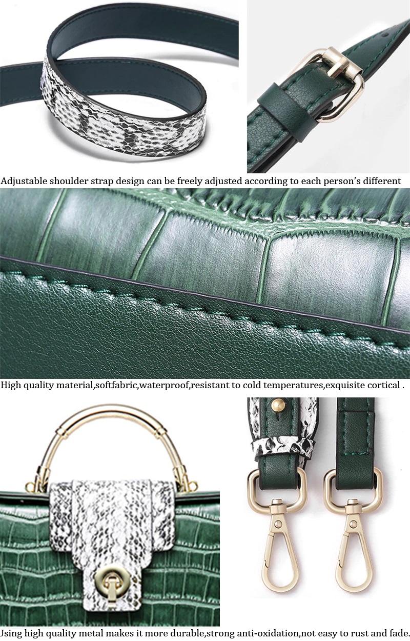 Genuine Leather Bag Ladies Crossbody Messenger Bag Crocodile7