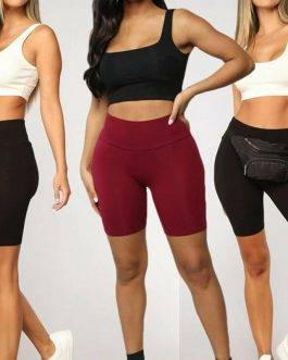 High Waist Stretch Trousers Gym Fitness Running Bottoms Shorts