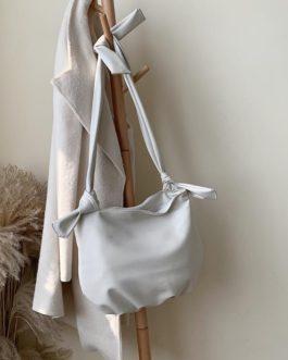 PU Leather Soft Solid Color Knot Shoulder Messenger Bag