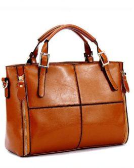 Luxury Designer Split Leather Handbag