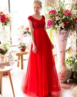 Luxury Rhinestones Beaded Floor Length Formal Occasion Dress
