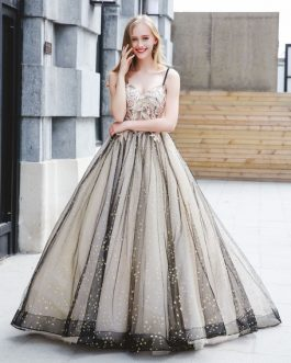 Luxury Tulle Ball Gowns Pearls Beaded Quinceanera Maxi Dress