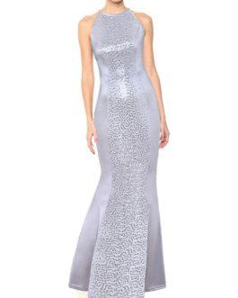 Maxi Dresses Sleeveless Jewel Neck Bodycon Polyester Long Dress
